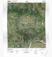 USGS TOPO Map Texas OK Kemp 20100614 TM Poster