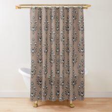 Haunted Mansion Wallpaper Mocha Brown #Neutral Shower Curtain