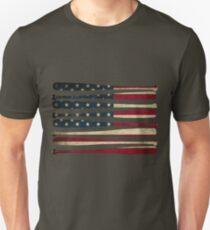 Amerika Baseball Flagge Slim Fit T-Shirt