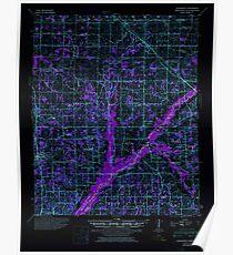 USGS TOPO Map Mississippi MS Hernando 336923 1944 62500 Inverted Poster