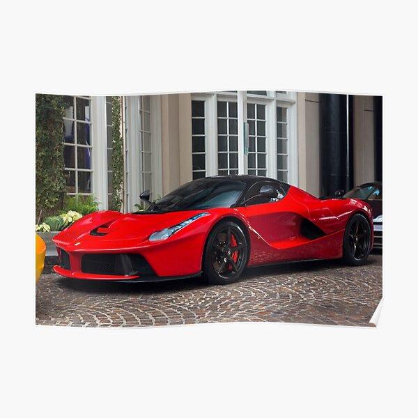 Ferrari LaFerrari En Rouge Poster