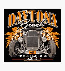 Daytona Vintage Road Racing Photographic Print
