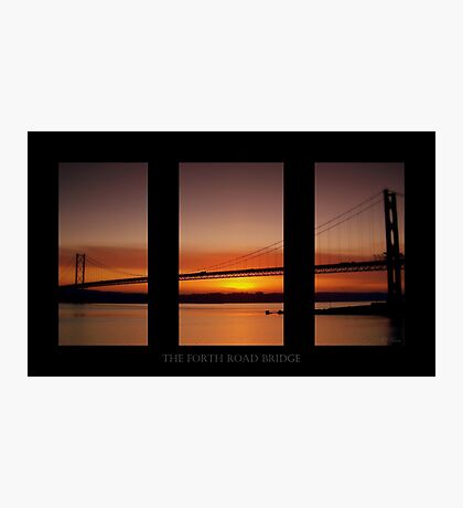 Sunset over the River Forth, Scotland. Photographic Print