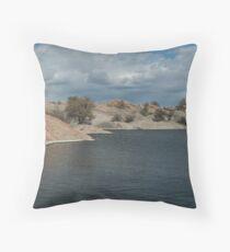 Water Line- Willow Lake, AZ Throw Pillow