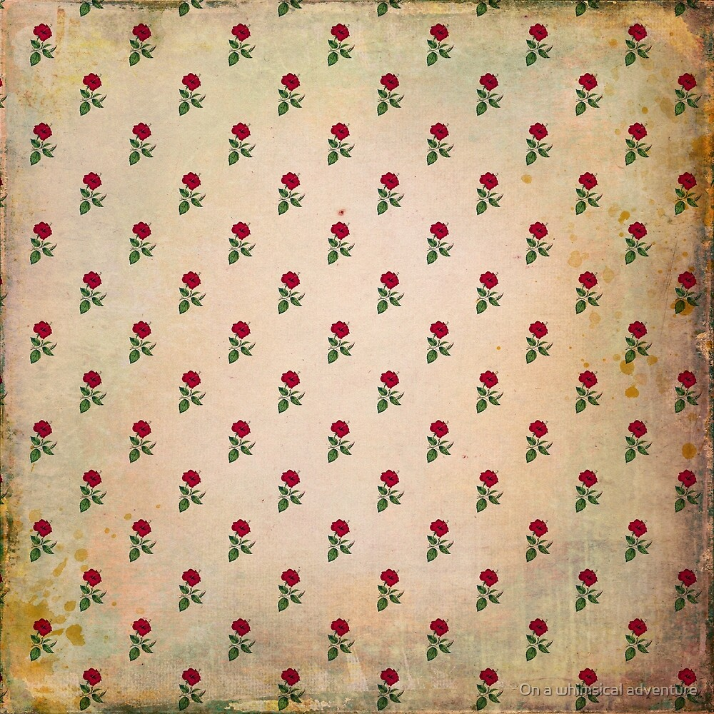 Vintage Tropical Hibiscus Pattern by On a whimsical adventure