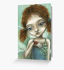 Irish Pixie - beautiful little fairy and a ladybird  Greeting Card