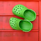 Green Crocs by friendlydragon