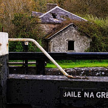 the lock keeper's cottage, Baile na Greine lock, the Barrow Navigation, County Carlow, Ireland. by AndyJones