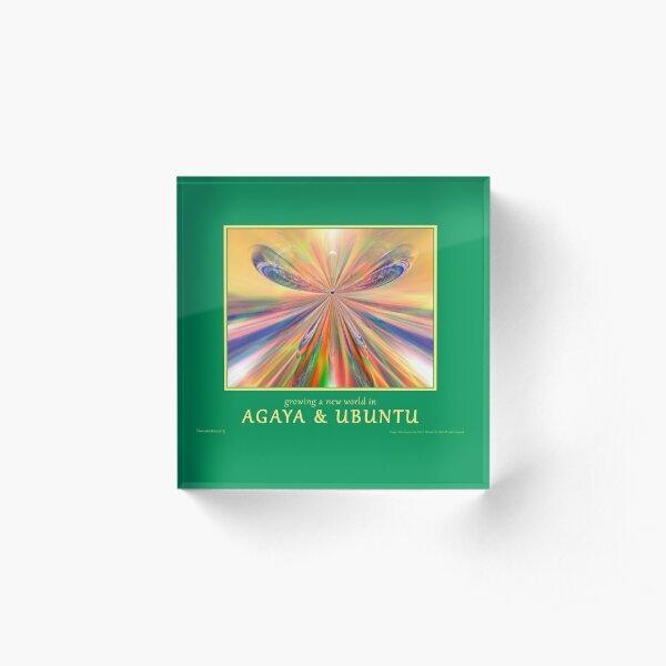 Novasutras Agaya & Ubuntu 'Metamorphia' Acrylic Block