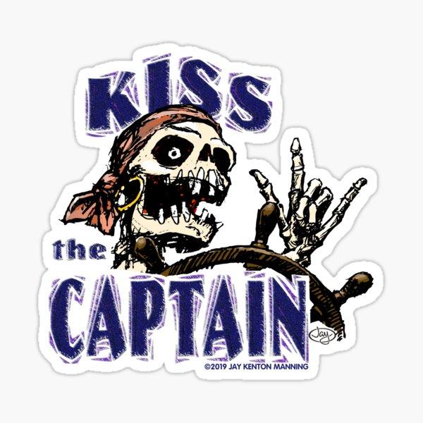 Kiss the Captain! Sticker