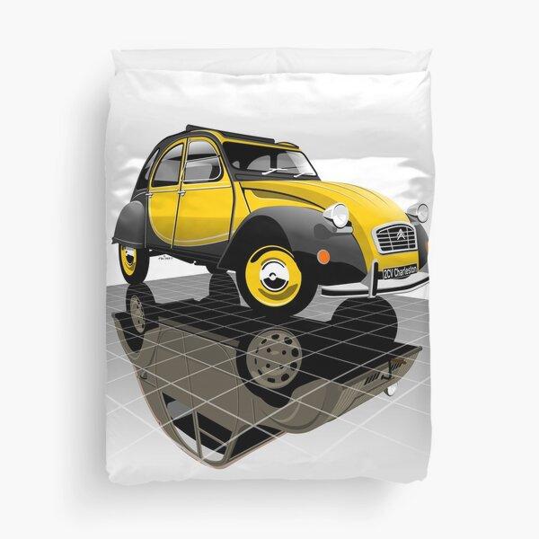 Citroën 2CV Charleston jaune Housse de couette