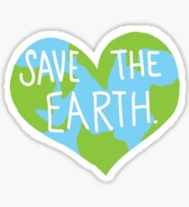 Love Earth Heart- Save the Planet- Laptop Sticker Sticker