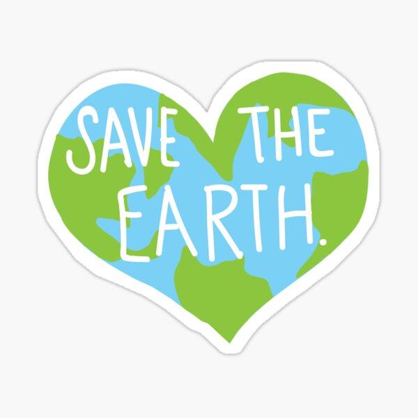 Love Earth Heart- Save the Planet- Laptop Sticker Sticker