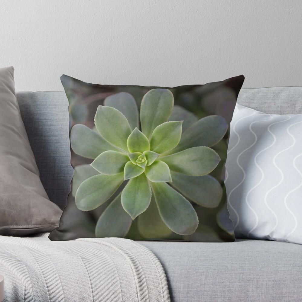 Zen Is Green Throw Pillow