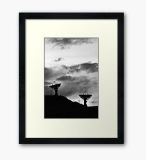 Communications in Black and White Framed Print