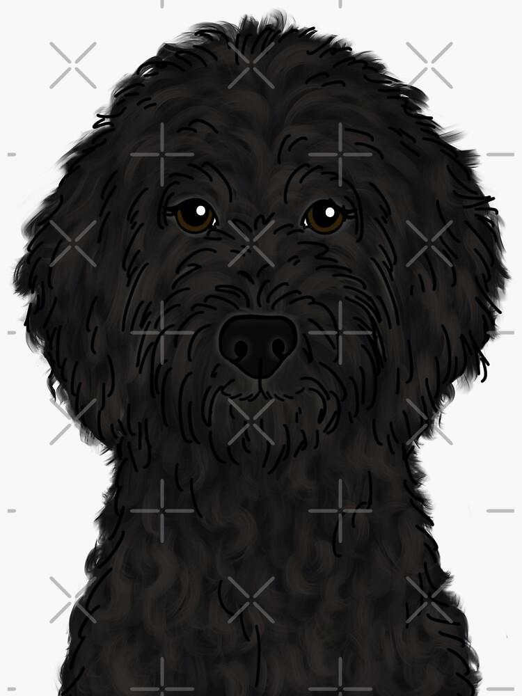 Black Goldendoodle  by ktscanvases