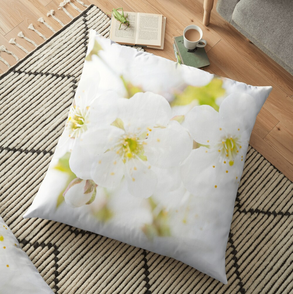 Ethereal Blossoms Floor Pillow