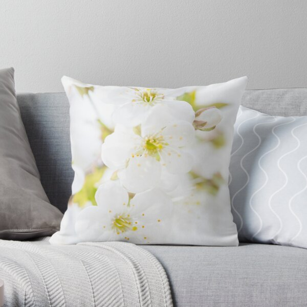 Ethereal Blossoms Throw Pillow