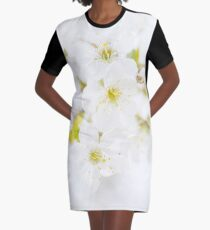 Ethereal Blossoms Graphic T-Shirt Dress