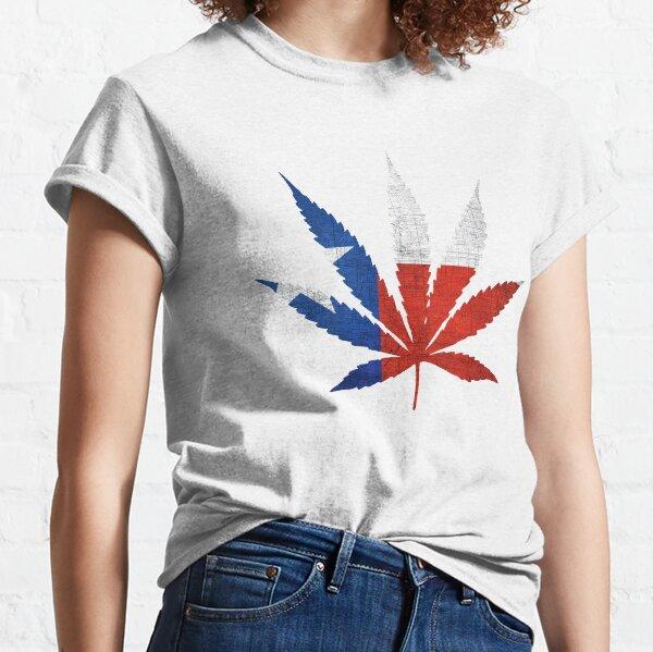 Marijuana Leaf Texas Flag Classic T-Shirt