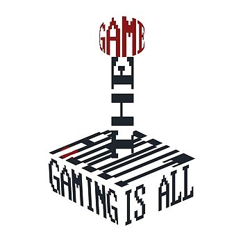 """Gaming is All About the Game"" Typography Joystick by DonRice"