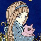 «Un cerdo perfectamente pouty» de Anita Inverarity