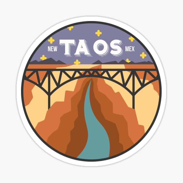 Taos, New Mexico - Night Sticker