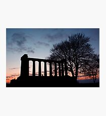 Sunset Over Calton Hill Photographic Print