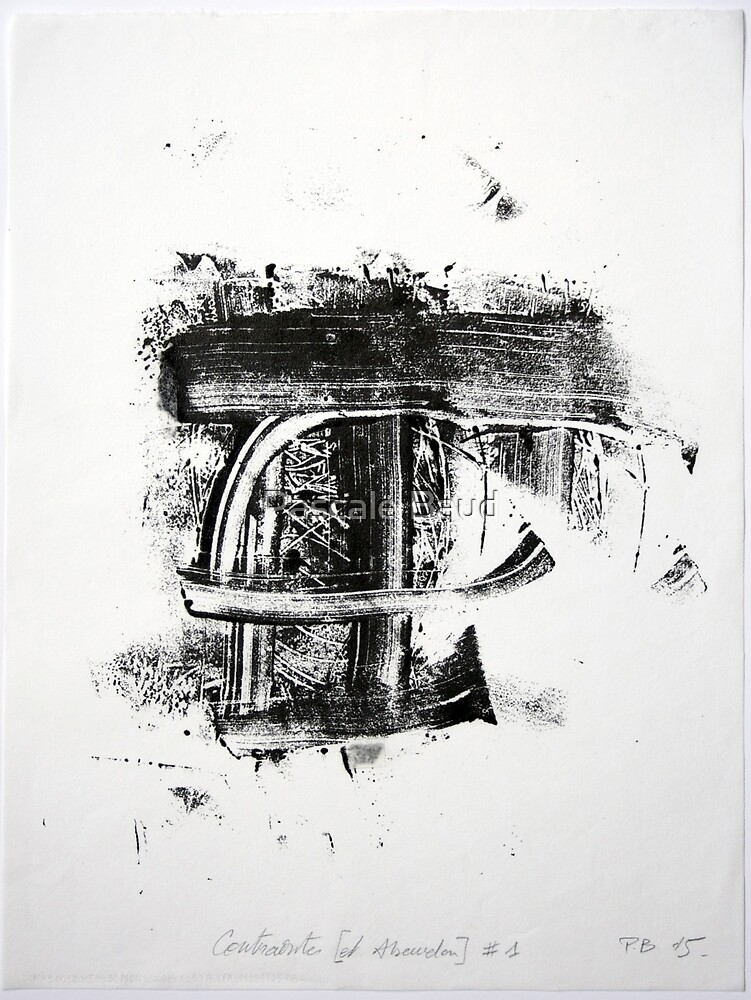 Contraintes et Abandon #1 - Monotype on Wenzhou paper by Pascale Baud