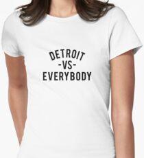 Detroit VS Everybody | Black Women's Fitted T-Shirt