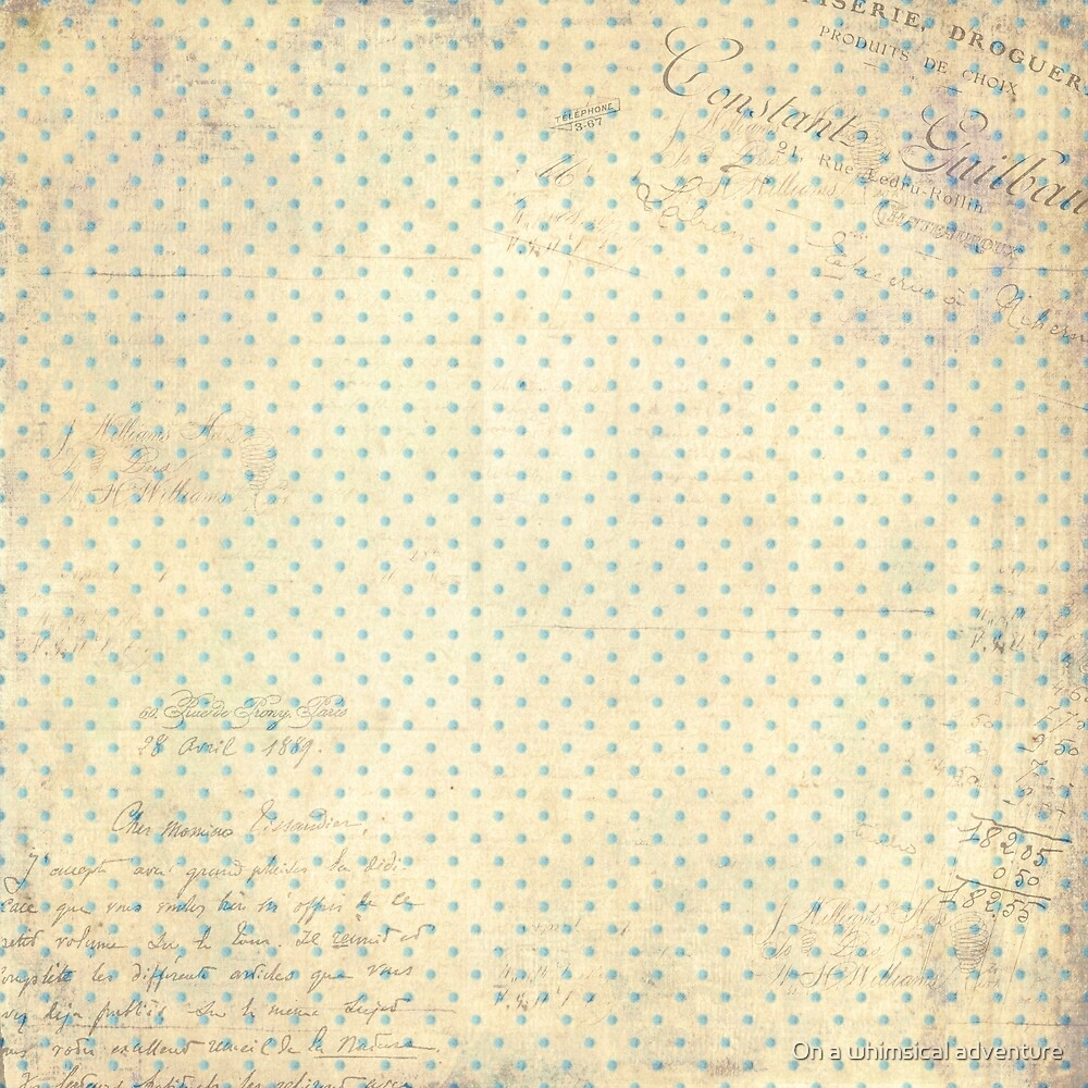 Vintage Dotted Pattern Shabby Chic by On a whimsical adventure