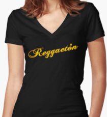 Reggeaton Women's Fitted V-Neck T-Shirt