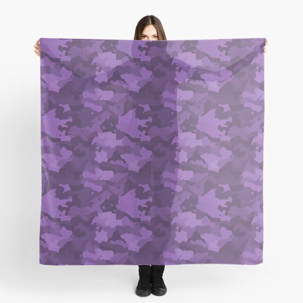 Purple Camouflage Print Scarf