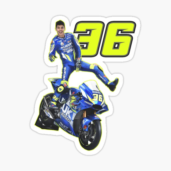 Joan Mir 36 Aufkleber blatt Laminiert 12 stickers MotoGP champion Suzuki Team