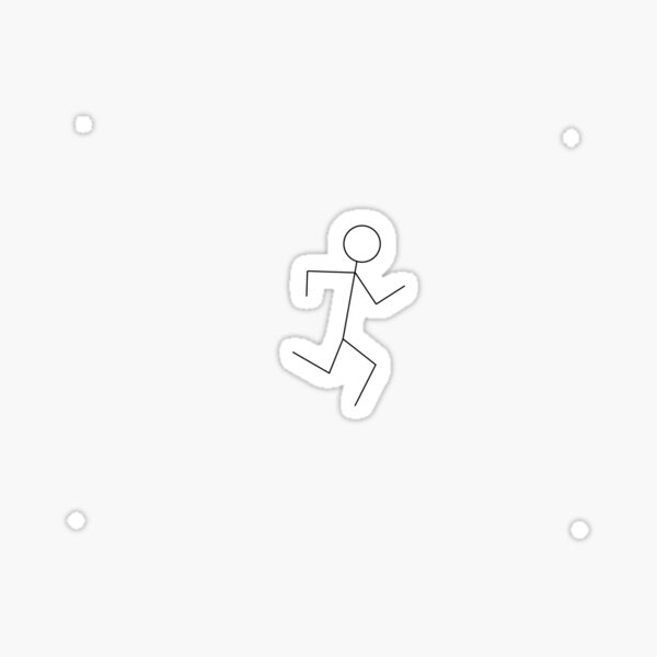 Small Running Stick Figure Sticker