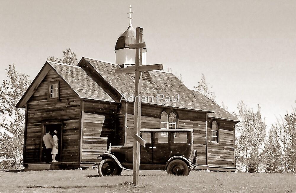 St. Nicholas Russo-Greek Orthodox Church - Ukrainian Cultural & Heritage Village, Alberta, Canada by Adrian Paul