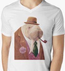 Walross T-Shirt mit V-Ausschnitt für Männer