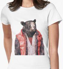 Schwarzbär Tailliertes T-Shirt für Frauen