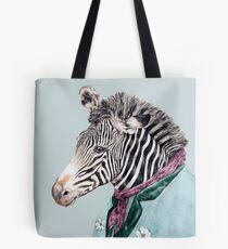 Zebra-Blau Tote Bag