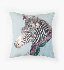 Zebra-Blau Dekokissen