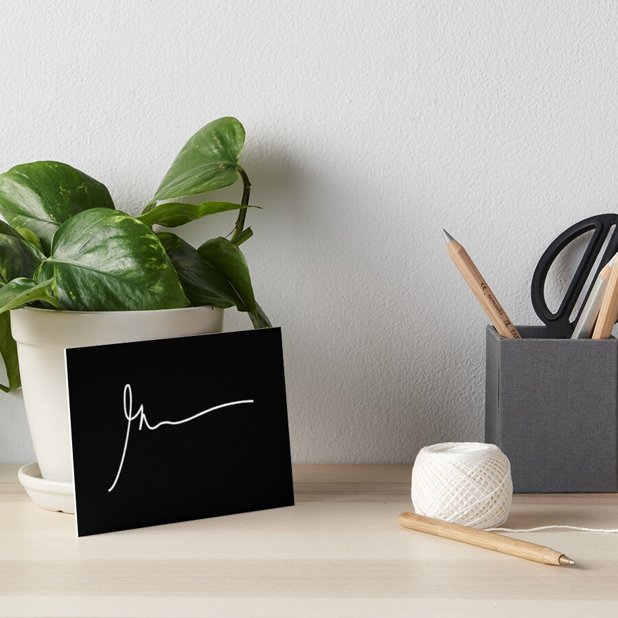 Gary Vaynerchuk / Gary Vee - Unterschrift - WEISS Galeriedruck