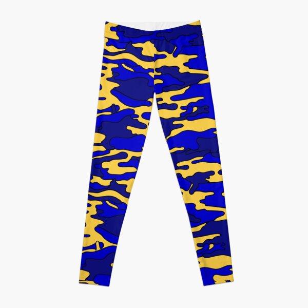 Blue & Yellow Camouflage Leggings