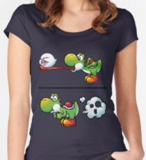 Farting Yoshi Women's Fitted Scoop T-Shirt