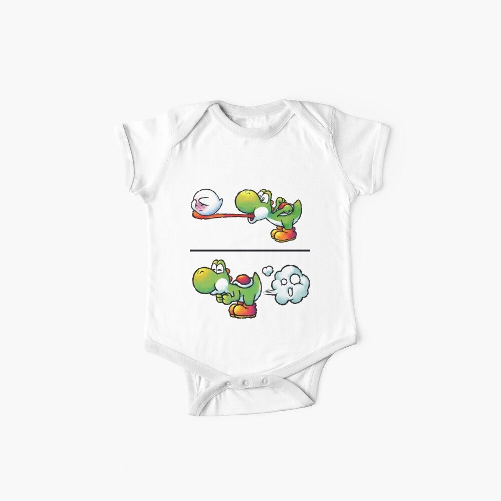 Farting Yoshi Baby One-Pieces