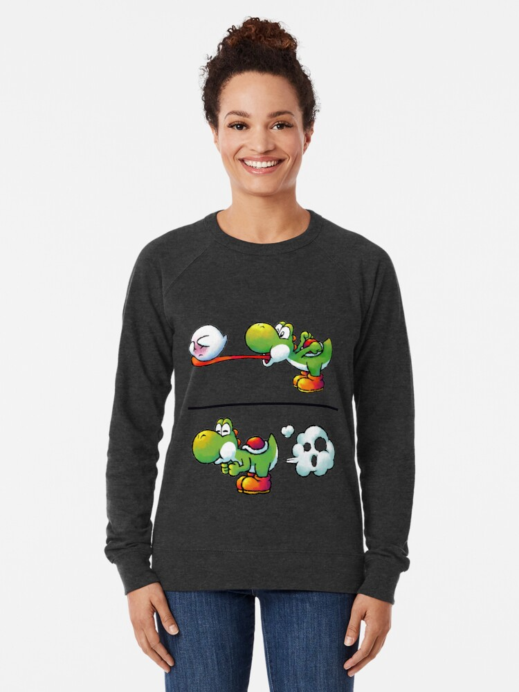 Alternate view of Farting Yoshi Lightweight Sweatshirt
