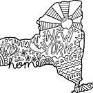New York Doodle Zeichnung von Corey Paige Designs