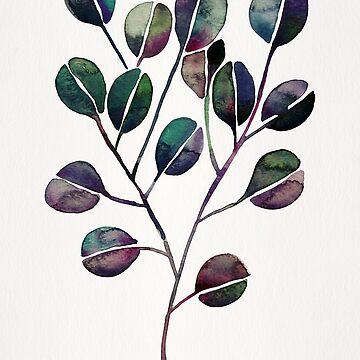 Silberner Dollar Eukalyptus - Deep Cool Palette von catcoq