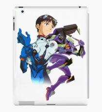 Shinji Ikari and Eva Unit-01 iPad Case/Skin