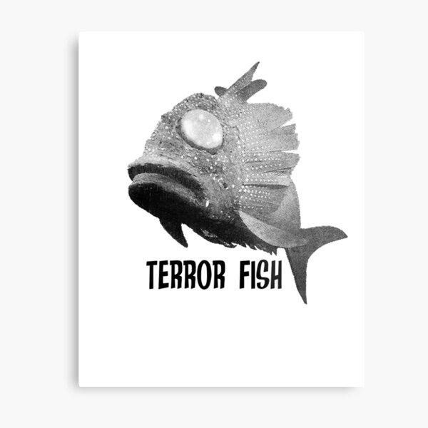 STINGRAY ART 20190216 TERROR FISH Metal Print