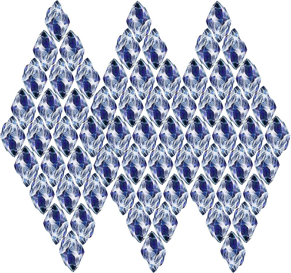 Blue Crystals Pattern Trio by ProjectMayhem
